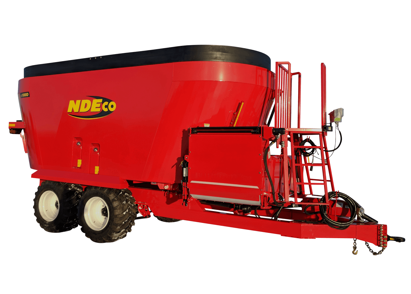 "NDEco FS1000D w/ 36"" Folding Conveyor and Flotation Tires"