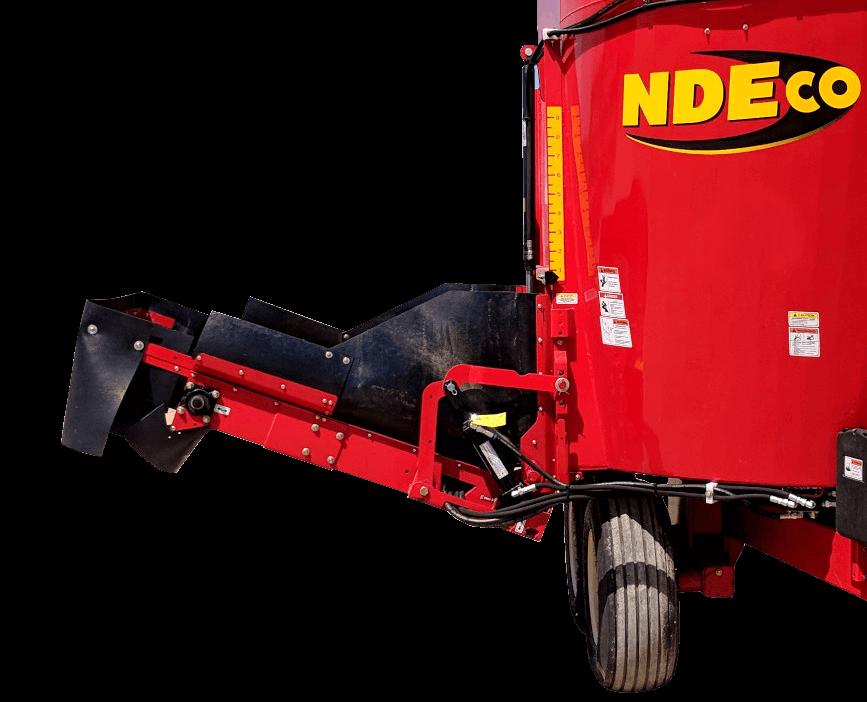 NDEco Vertical TMR Feed Mixer S series 4.5' Side Conveyor
