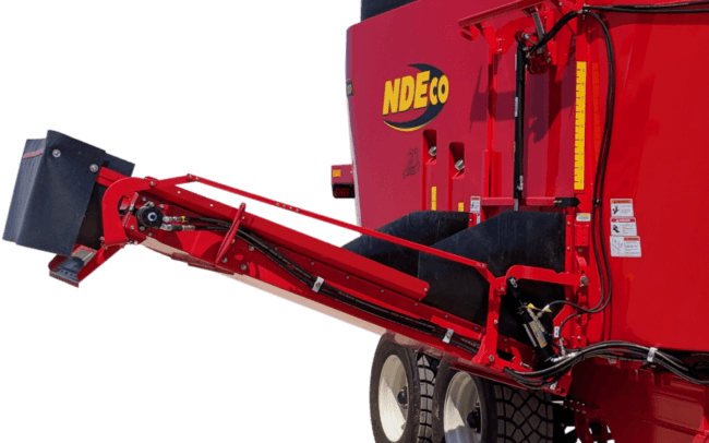 NDEco Dual Auger 7.5' long side conveyor