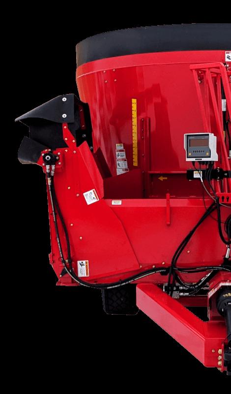 NDEco U850D Dogleg Conveyor - Vertical TMR Mixer