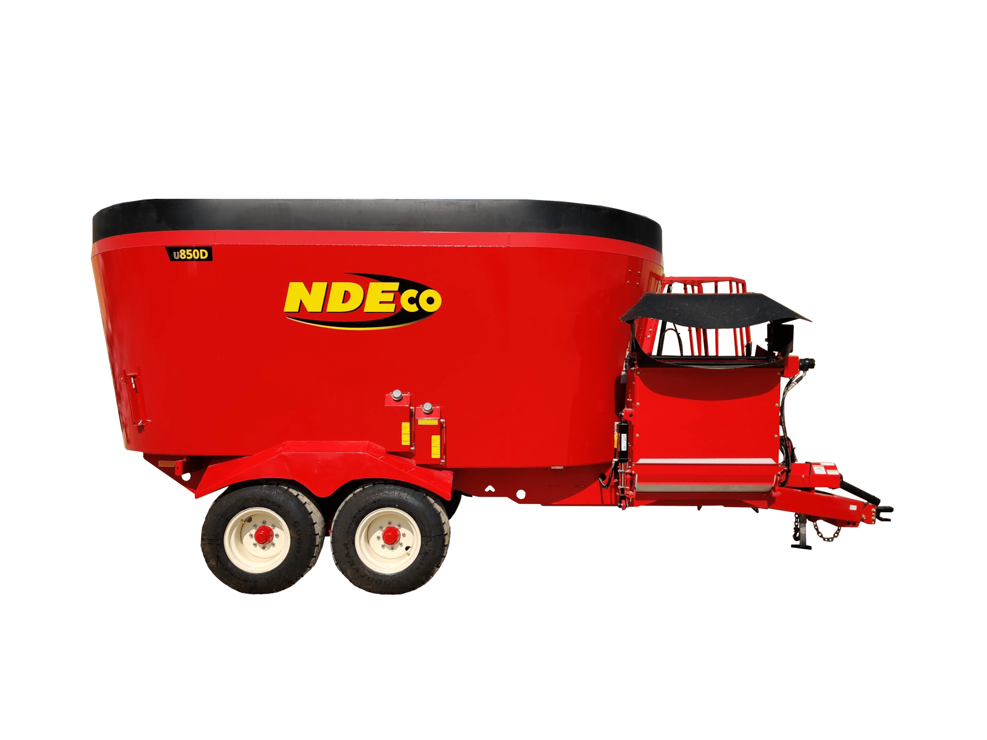 U850D - Dual Auger Feed Mixer w/ Walking Tandem Axles