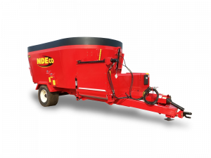 "NDEco U550D Vertical TMR Feed Mixer w/36"" Dogleg Conveyor"
